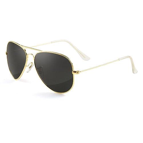 a20bc343cc3 GREY JACK Polarized Classic Aviator Sunglasses Lightweight Style for Men  Women