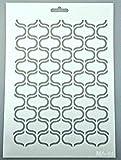 Plantilla de pintura y dibujo A4, 21 x 29 cm, reutilizable, diseño oriental, valla abstracto