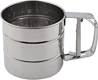 Lixada Stainless Steel Mesh Flour Sifter Mechanical Baking Icing Sugar Shaker Sieve Cup