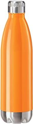 Oggi Stainless Steel Calypso Double Wall Sports Bottle with Screw Top 0.75 L/25 oz. Orange Neon
