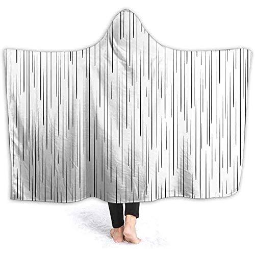 Henry Anthony 40X50 Inch Hooded Blanket Vertikale Linien Hintergrund. Rain Drops Soft Wele Throw Blanket Poncho mit Kapuze,