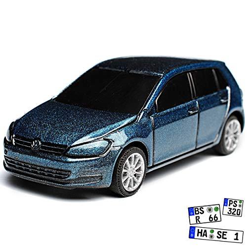 Rietze Volkwagen Golf VII Blau Grau 5 Türer Ab 2012 1/64 Modell Auto