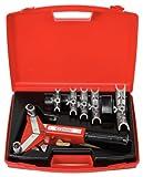 KS Tools 203.1201 Serie di Curvatubi a Cricco Manovrabili con Una Sola Mano 10.0-22, 0 mm, 7 Pezzi