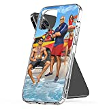 Phone Case Baywatch TPU Dwayne Waterproof Johnson Clear Zac Funny Efron Pc Illustration Art Compatible for iPhone 6 6s 7 8 X Xr Xs 11 12 Pro Max Plus Se 2020