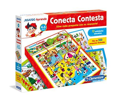 Clementoni - Conecta Contesta, juego educativo (653805) , color/modelo surtido