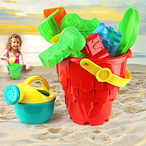 Liamostee 1 Satz Kinder Strand Spielzeug Kunststoff Eimer Sprinkler Egge Schaufel Werkzeuge f¨¹r Sommer Strand
