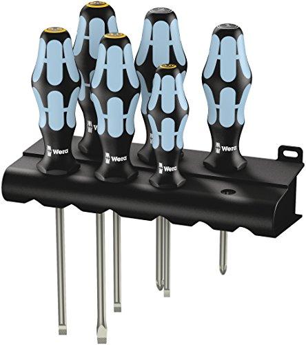 Wera 3334/3355/6 schroevendraaierset, roestvrij staal + rek, 6-delig, 05032061001