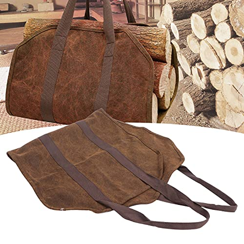Saco para lareira, sacola de toras fácil de guardar para piquenique para acampamento