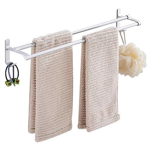 Espacio de aluminio toalla rack baño toalla toalla colgando baño toalla de almacenamiento-60 cm