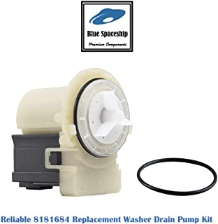 Reliable 8181684 Washer Drain Pump Kit. Replacement Part Fits for Whirlpool Kenmore KitchenAid washersand Replaces 8181684 8182819 285998 280187 AP3953640