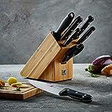 ZWILLING Messerblock, 8-tlg., Bambusblock, Messer und Schere aus rostfreiem Spezialstahl/Kuststoff-Griff, Twin Chef - 9