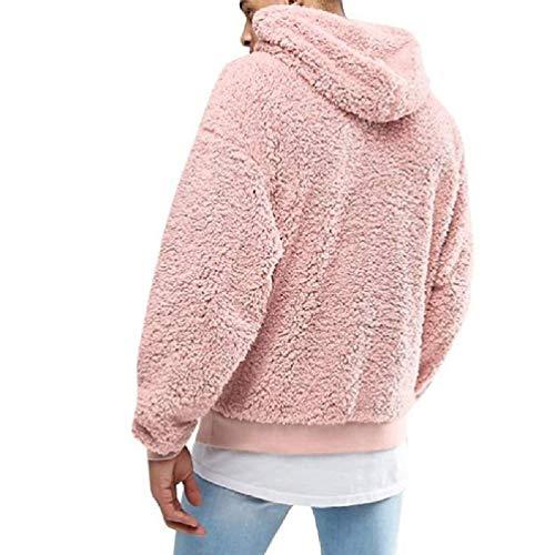 SWEETWU męska chłopięca zima pogrubiona pluszowa bluza z długim rękawem sweter ze sznurkiem bluza z kapturem topy z kieszenią puszysty kangur odzież wierzchnia S-3XL męski sweter męskie swetry sweter męskie swetry wyprzedaż