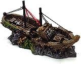 JLXQL Escultura Gran ruina naufragio Decorativo Resina artesanías simulación Acuario paisajismo