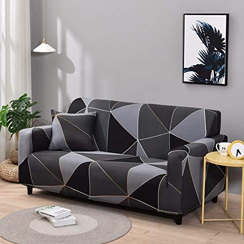 WXQY Fundas de sofá elásticas geométricas Fundas de sofá elásticas para Sala de Estar Protector de Muebles sofá Toalla Funda de sofá A29 3 plazas