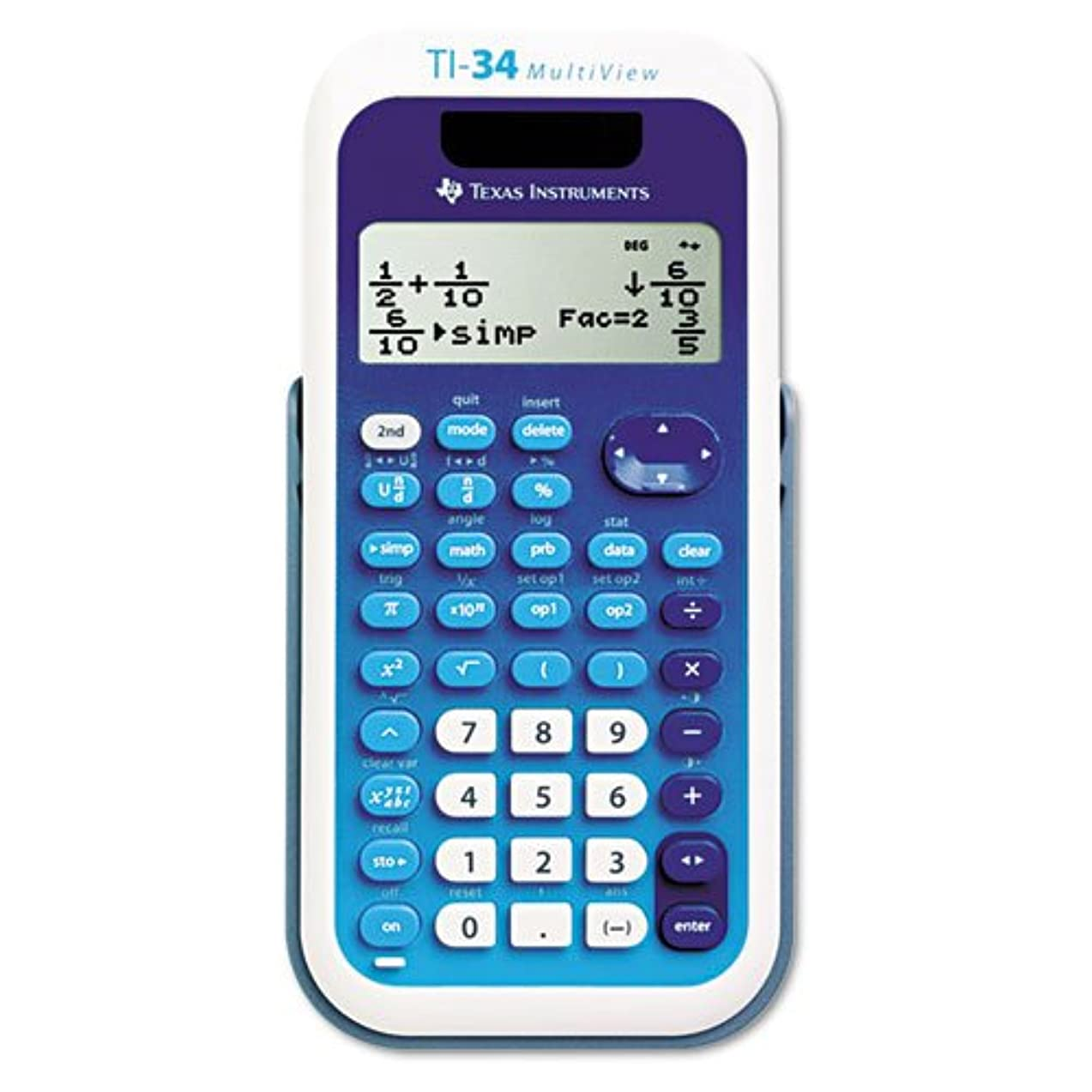 恐怖症余剰サドルマルチビュー関数電卓 TI-34 16桁 液晶ディスプレイ 単品販売