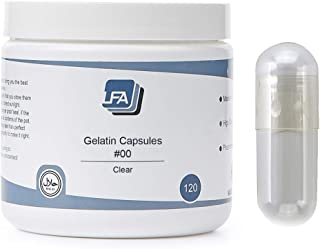 Sponsored Ad - LFA Empty Gelatin Capsules Size 00 - Clear Fillable Beef Gel Caps for DIY Powder Supplement Pills - Halal -...