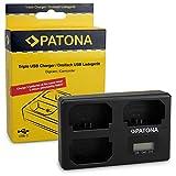 PATONA Triple Cargador para NP-FZ100 Batería Compatible con Sony Alpha 9, 7 III, 7R III, 7RM3 con...