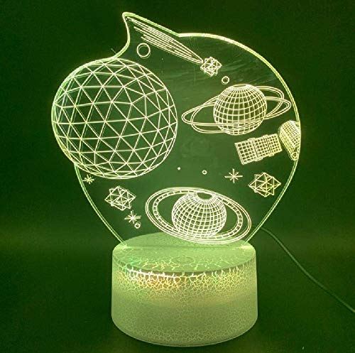 Space Universe Star Planet Office Home Room Décoratif Veilleuse Cadeau Pour Enfants Enfants 3D Night Lamp