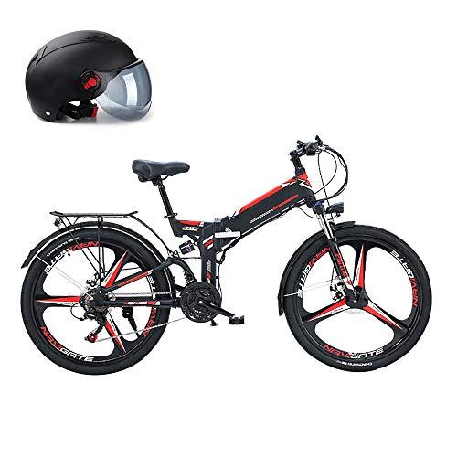 300W Bicicleta Eléctrica Plegable De 26 Pulgadas, Bicicleta De Montaña con Batería...