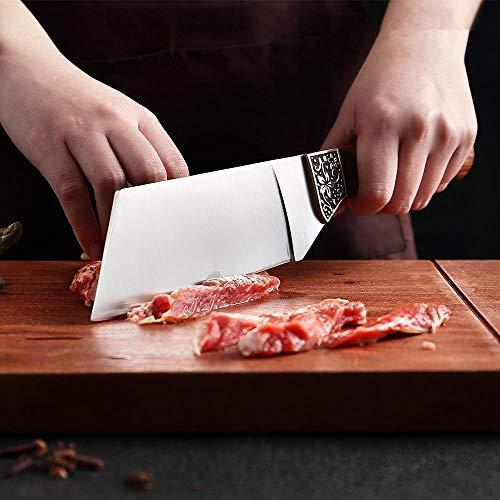 Edelstahl Premium-Kochmesser Durian Messer Cleaver Fleisch Obst Küchenmesser mit Palisander Griff Werkzeug Kochen