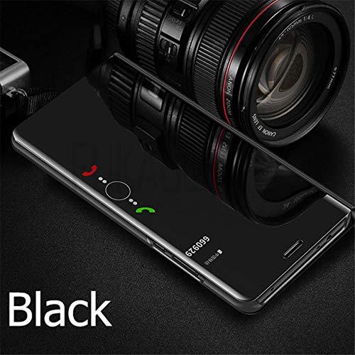 XUEYAN521 Telefoon Case Luxe Flip Standing Case voor Xiaomi Mi 9 A2 8 Lite A1 6X 5X Spiegel Lederen Case voor Redmi 7 Note 7 6 PRO 5 Plus 6A 4 4X Cover-voor Xioami Mi 6-Black
