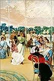 Posterlounge Cuadro de Madera 60 x 90 cm: La Feria de Cordoba de Julio Romero de Torres