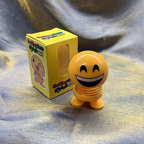 N/D Auto-Pose Emoji schüttelt Kopf Puppe Smiley Gesicht tanzen Nicken zu Spielzeug-Themen-Party-Geschenk Auto Dashboard Tischdekoration. Galvanisieren eines lachenden Ausdrucks.