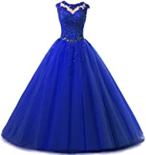 HEIMO Lace Appliques Ball Gown Evening Prom Dress Beading Sequined Quinceanera Dresses Long 2018 H152