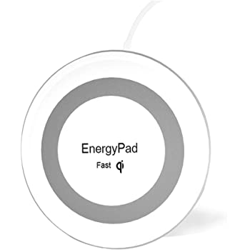 Wireless Charger EnergyPad Qi-Certified Ultra Slim Wireless Charging Pad Compatible with iPhone Xs Max/airpod 2/XS/XR/X/8/8 Plus,Samsung Galaxy Note10/S10/9/S9/S9 Plus/S8/S8 Plus/ (No AC Adapter)