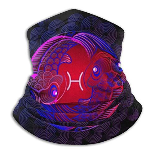 N / A Círculo del Horóscopo De Neón De Piscis con Signos del Zodíaco Polainas De Cuello Protección UV Calentador De Cuello Elegante Pañuelo De Cabeza para Partido Pesca Caza