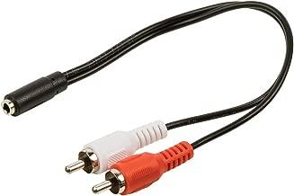 Valueline VLAP22255B02 Adaptador de Cable 2 x RCA 3,5mm Negro, Rojo, Blanco - Adaptador para Cable (2 x RCA, 3,5mm, Male Connector/Female Connector, 0,2 m, Negro, Rojo, Blanco)
