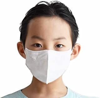 10Pcs AIRQUEEN Korean Nanofiber Filter Childern Mask for kids (White)