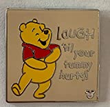Disney Pin 134121 DLR - Hidden Mickey 2019 - Winnie the Pooh Quotes - Laugh Pin