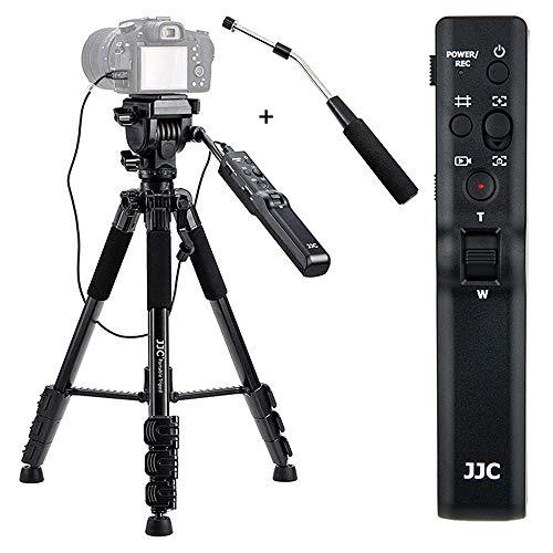 JJC Trípode de control remoto compacto sustituye a VCT-VPR1 para Sony Alpha A9 A7R IV A7 III A7S II A6000 A6600 A6500 A6400 A6300 A6100 ZV-1 RX100 VII VI RX10 HDR-CX40 CX40 55 CX66 75 CX900.