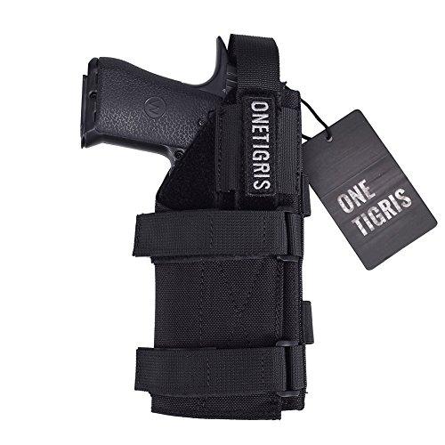 OneTigris Minimalist Pistol Holster for 1911 45 92 96 Glock (Black)