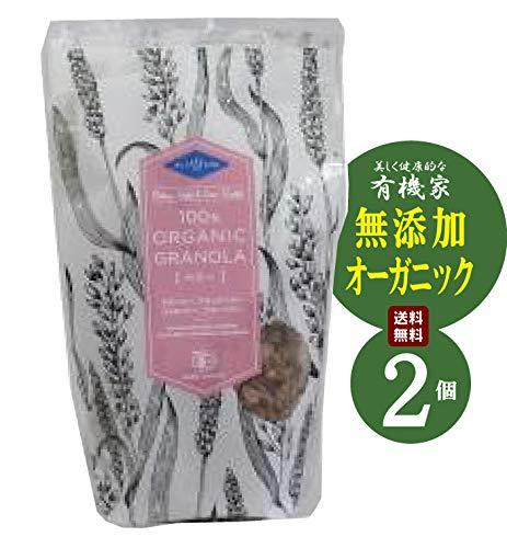 無添加 オーガニック ベリー 200g ×2個★送料無料レターパック赤★蜂蜜味のグラノーラに4種類のドライベリーをブレンドした、彩り鮮やかなベリーグラノーラです。