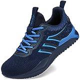 UCAYALI Zapatos Seguridad Hombre Calzado de Trabajo Mujer Zapatos de Protección Antideslizante Anti Pinchazo Zapatos de Industria y Construcción Azul Oscuro Gr.41