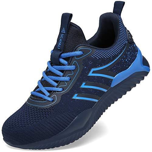 UCAYALI Zapatos Seguridad Hombre Calzado de Trabajo Mujer Zapatos de Protección Antideslizante Anti Pinchazo Zapatos de Industria y Construcción Azul Oscuro Gr.42