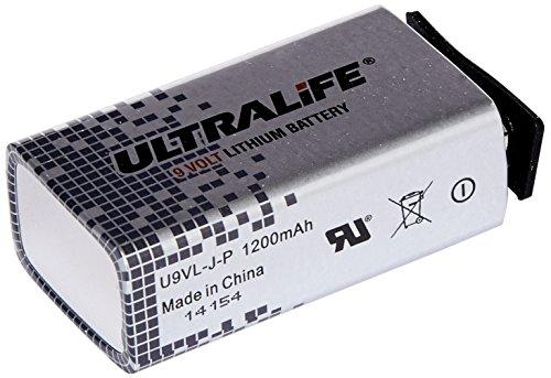 Ultralife Lithium Batterie (9 Volt, E-Block, U9VL, U9VL-J-P, 1200mAh, 10er Sparset)