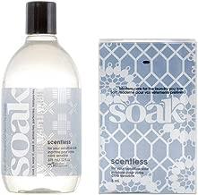 Soakwash Liquid Laundry Wash, 12-Ounce, Scentless with 8 Pack Soak Minisoak Travel Pack-Scentless