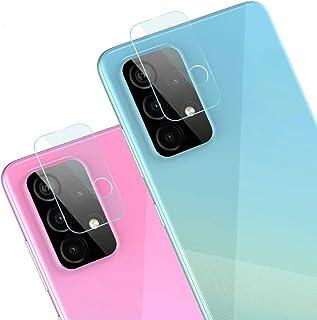 غشاء واقي لعدسة الكاميرا من FTRONGRT لهاتف Samsung Galaxy A52 5G، شفاف، رفيع جدًا، مقاوم للخدش، طبقة واقية من الزجاج المقو...