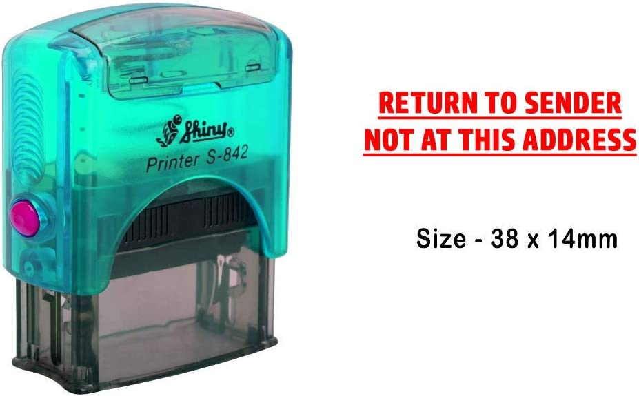 eloria Return to Sender Not at This Address Self Inking Rubber Stamp Business Custom Stamp Office Stationary