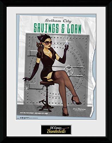 1art1 Catwoman - DC Comics Bombshells Gerahmtes Bild Mit Edlem Passepartout | Wand-Bilder | Kunstdruck Poster Im Bilderrahmen 40 x 30 cm