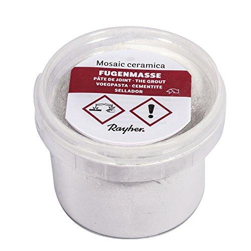 Rayher 1460502 Fugenmasse für Mosaik, Dose 125g, weiß