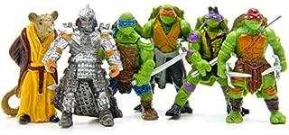 6 Pcs/set Ninja Turtles Action Figure Model Q Version of Ninja Turtles PVC Toys Hobby Collection Adult Children Gift-ejv