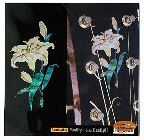 Inlay Aufkleber/Sticker für Gitarren-Kopfplatte mit Abalone-Motiv - Lily