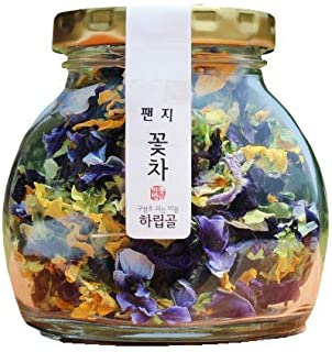 [HALIPGOL] Natural Dried Hand Roasting Flower Tea 10~20g, Caffeine Free Herbal Tea / edible flower certificated by eco-friendly & clean area wild flower (Pansy Tea)