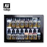 Vallejo 071194 Farbset, Alterungs-Set, 16 x 17 ml