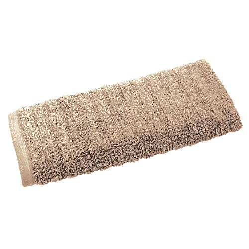Price comparison product image iDesign Hand Towel,  Small Ribbed Cotton Hair Towel,  Soft Face Cloth for the Face and Hands or for the Shower and Bath,  Beige