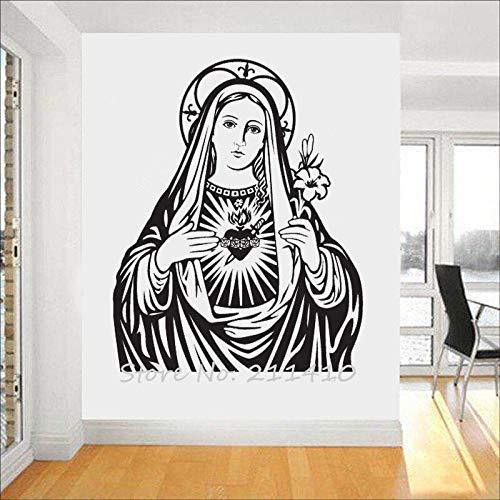 ASFGA La Parete Unica della Vergine Maria Wall Sticker Decorazione della casa Soggiorno murale della Classica Chiesa cattolica Adesivo de Parede affresco 120X150cm
